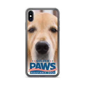 Golden PAWS Close-Up iPhone Case