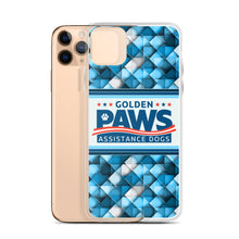 Load image into Gallery viewer, Golden PAWS Blue Geometric iPhone Case