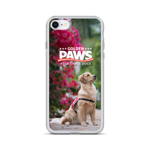 Golden PAWS Flowers iPhone Case