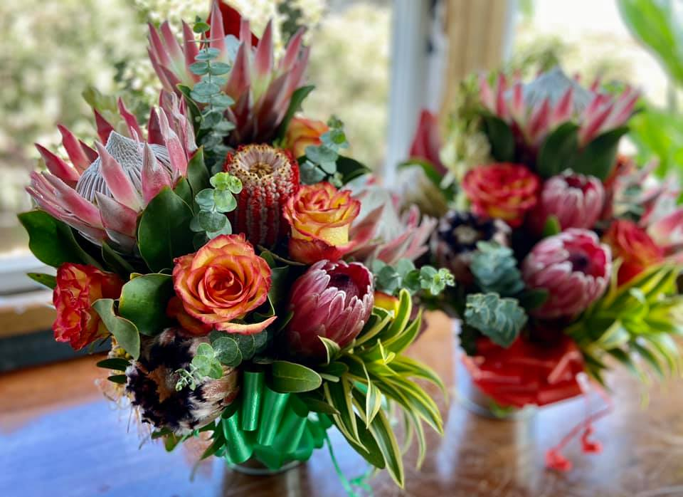 "Seasonal Protea Buckets - Voted ""Most Popular"" Winter 2020"