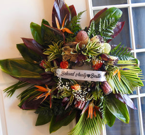 Sentiment Wreath with Ribbon