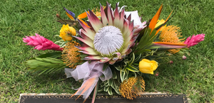 Hawaiian Style Sympathy Sprays & Headstone Arrangements