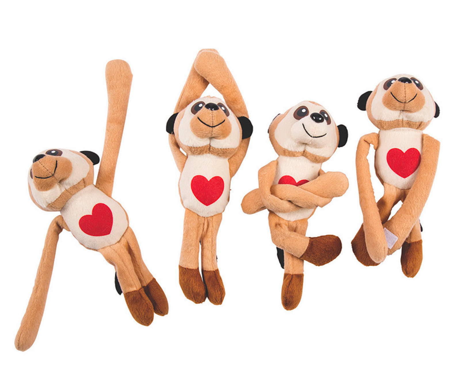 Valentine Long Arm Stuffed Meerkats