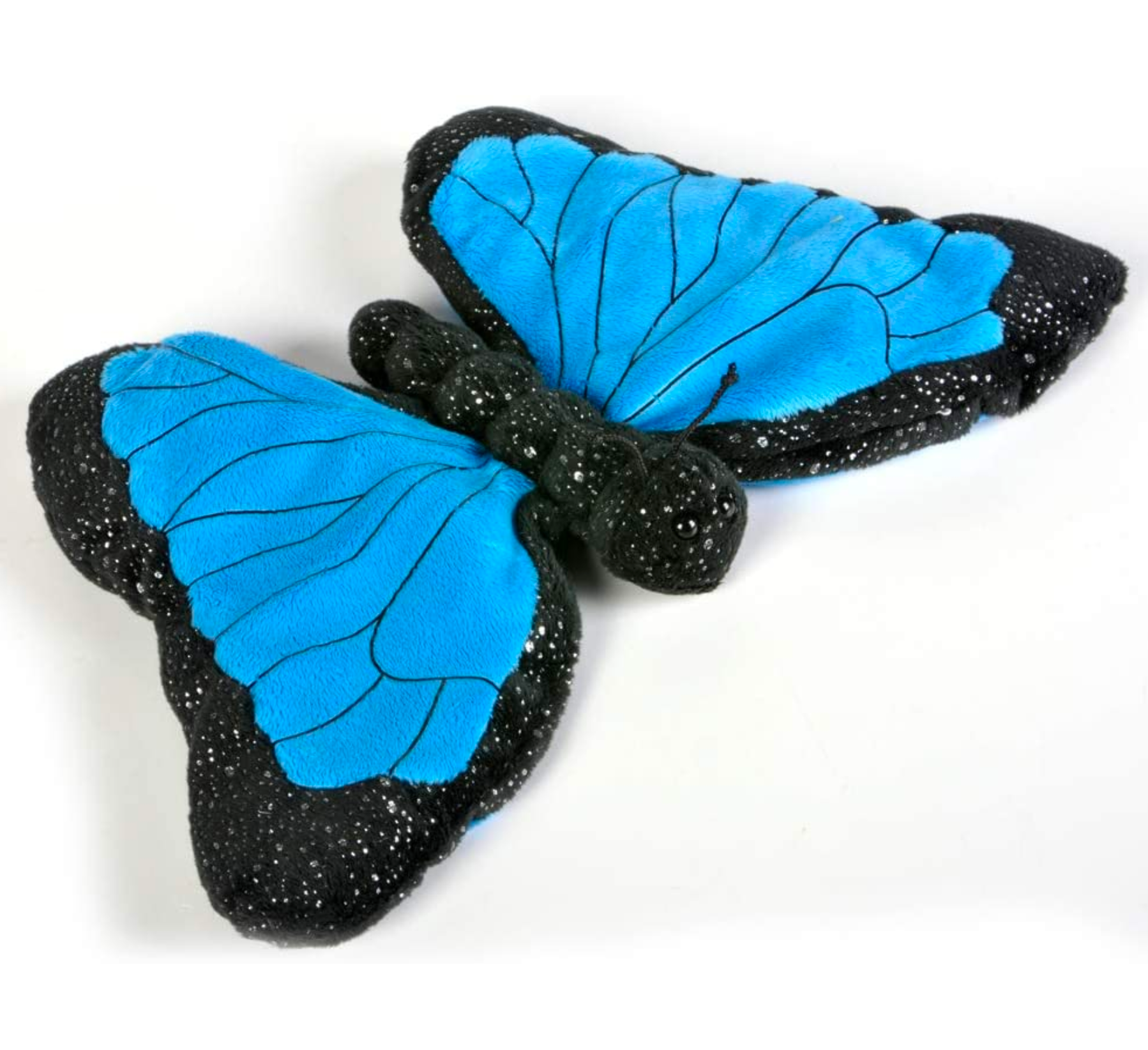 Pukalani Floral Blue Signature Stuffed Butterfly