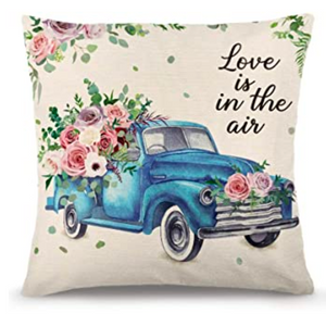 "Love is in the Air - Signature Pukalani Floral 18"" Pillow ~ Premium Hypo-Allergenic Pillow Insert Included"