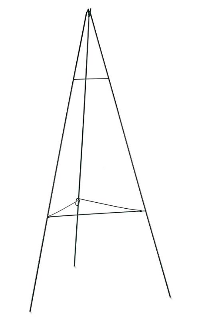 Wire Easel, 54 or 60-Inch, Green ~ Top Hook