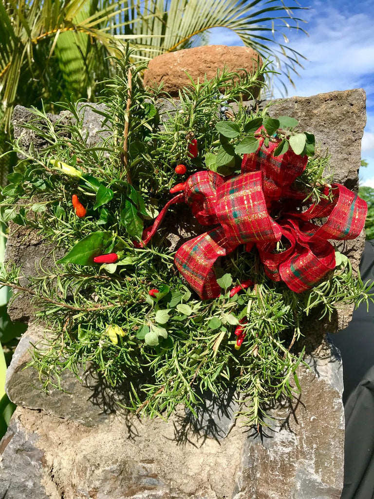 Maui Herb Wreaths ~ Kitchen Love ~ Home or Office Aromatherapy Wreath