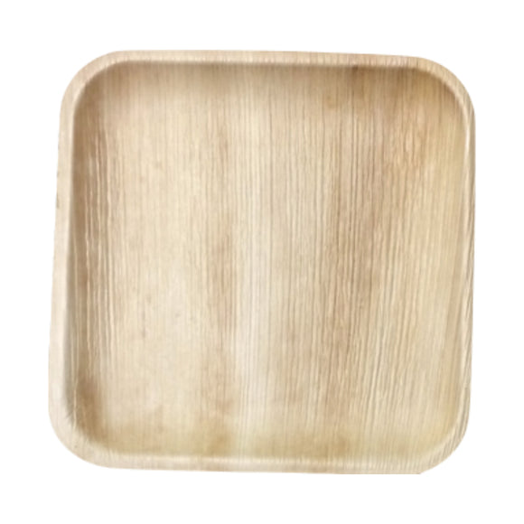 "25 per pack-Compostable Areca Palm Leaf Tableware 10""x10"