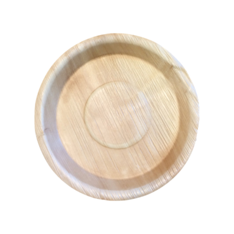 "25 per pack-Compostable Areca Palm Leaf Tableware 8"" Round Plate"