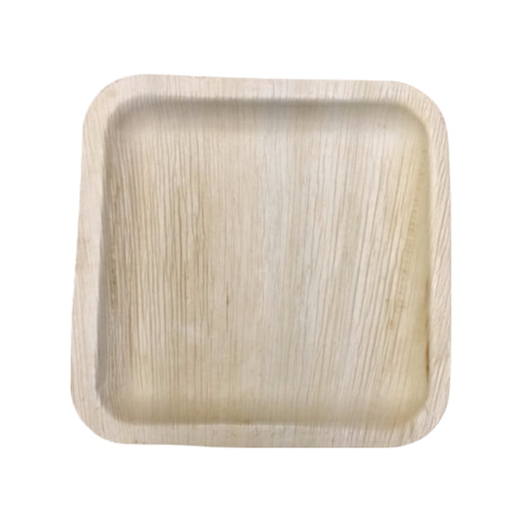 "25 per pack-Compostable Areca Palm Leaf Tableware 8""x8"