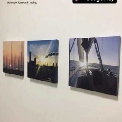 3 customized canvases