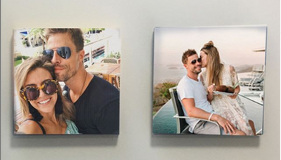Canvas 8x8 inch, customized with your photos