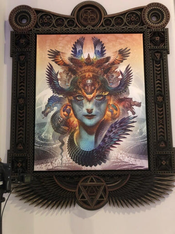 Dharma Dragon Stretched Canvas Print with Custom Frame