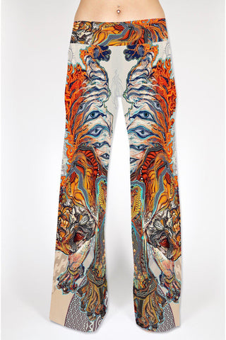 Swallow Tail Flare Pants