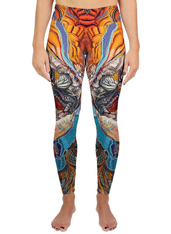 Tiger Swallow Tail Active Leggings