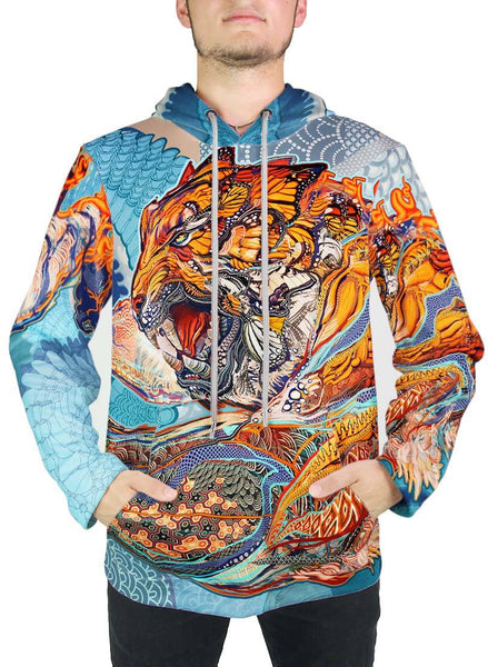 Tiger Swallow Tail Hoodie