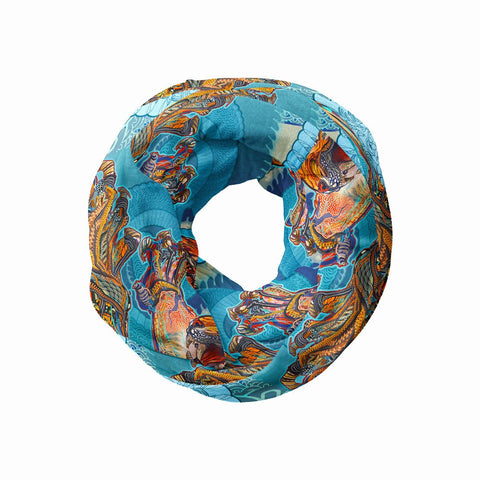 Tiger Swallow Tail Infinity Scarf