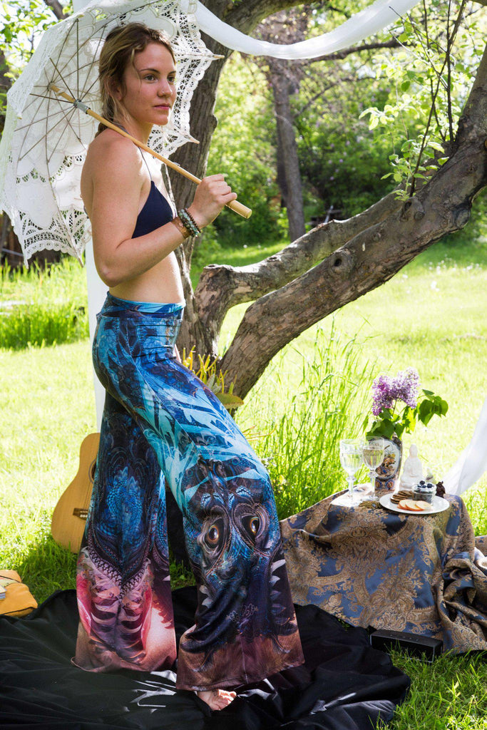 Water Dragon Flare Pants