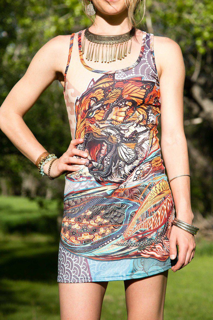 Tiger Swallow Tail Tank Dress