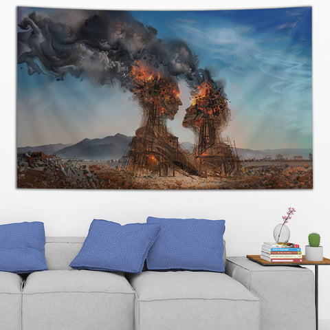 BURNING EMBRACE TAPESTRY