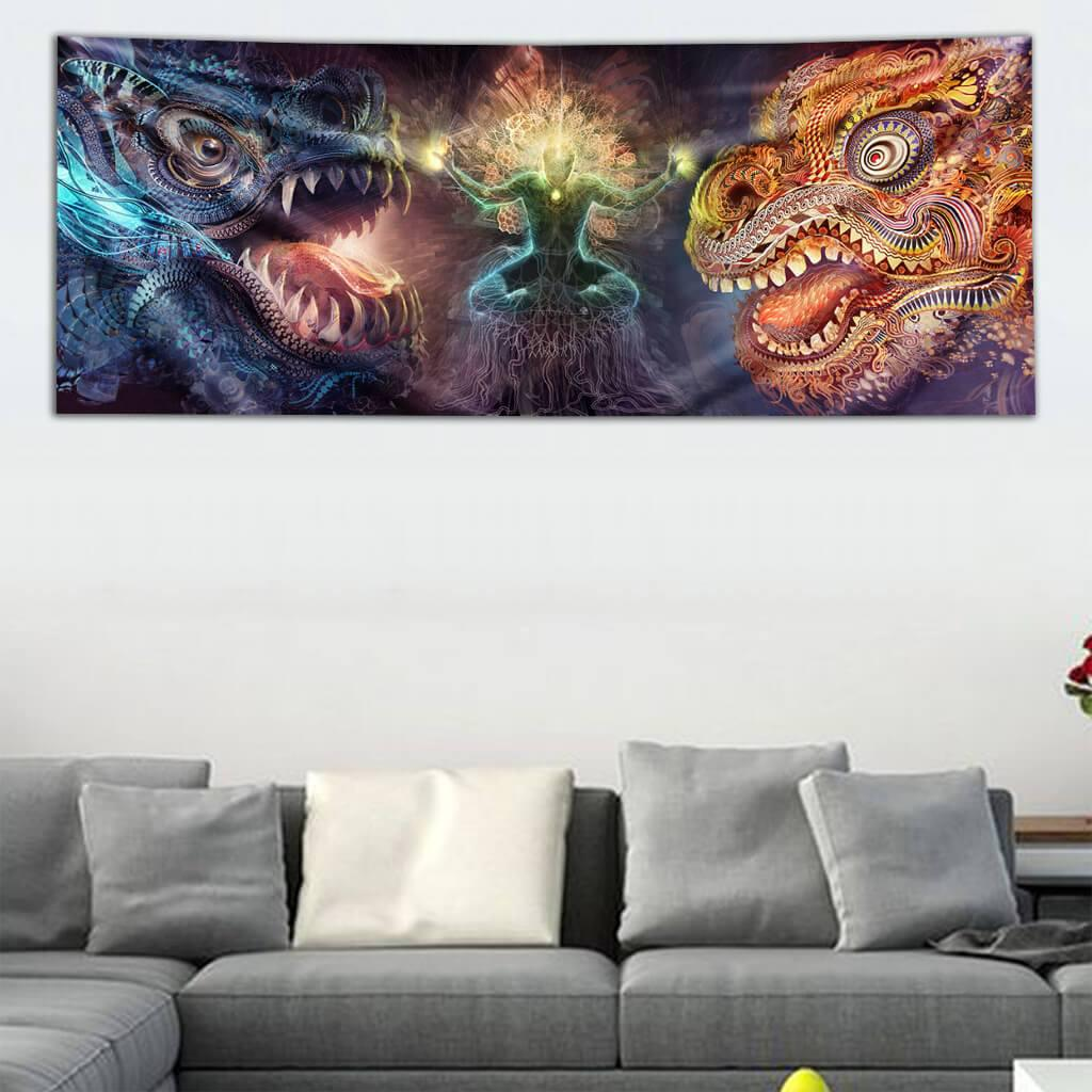 Harmony of Dragons Tapestry