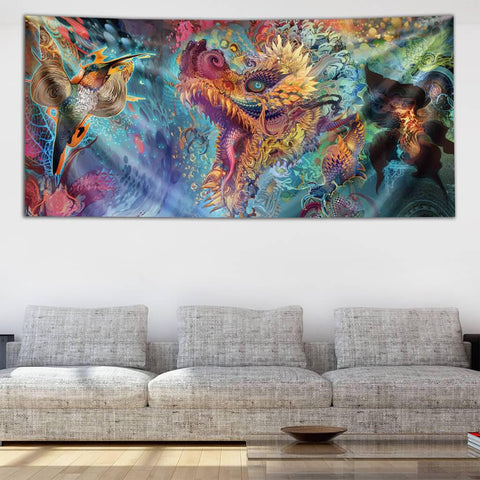 Humming Dragon Tapestry