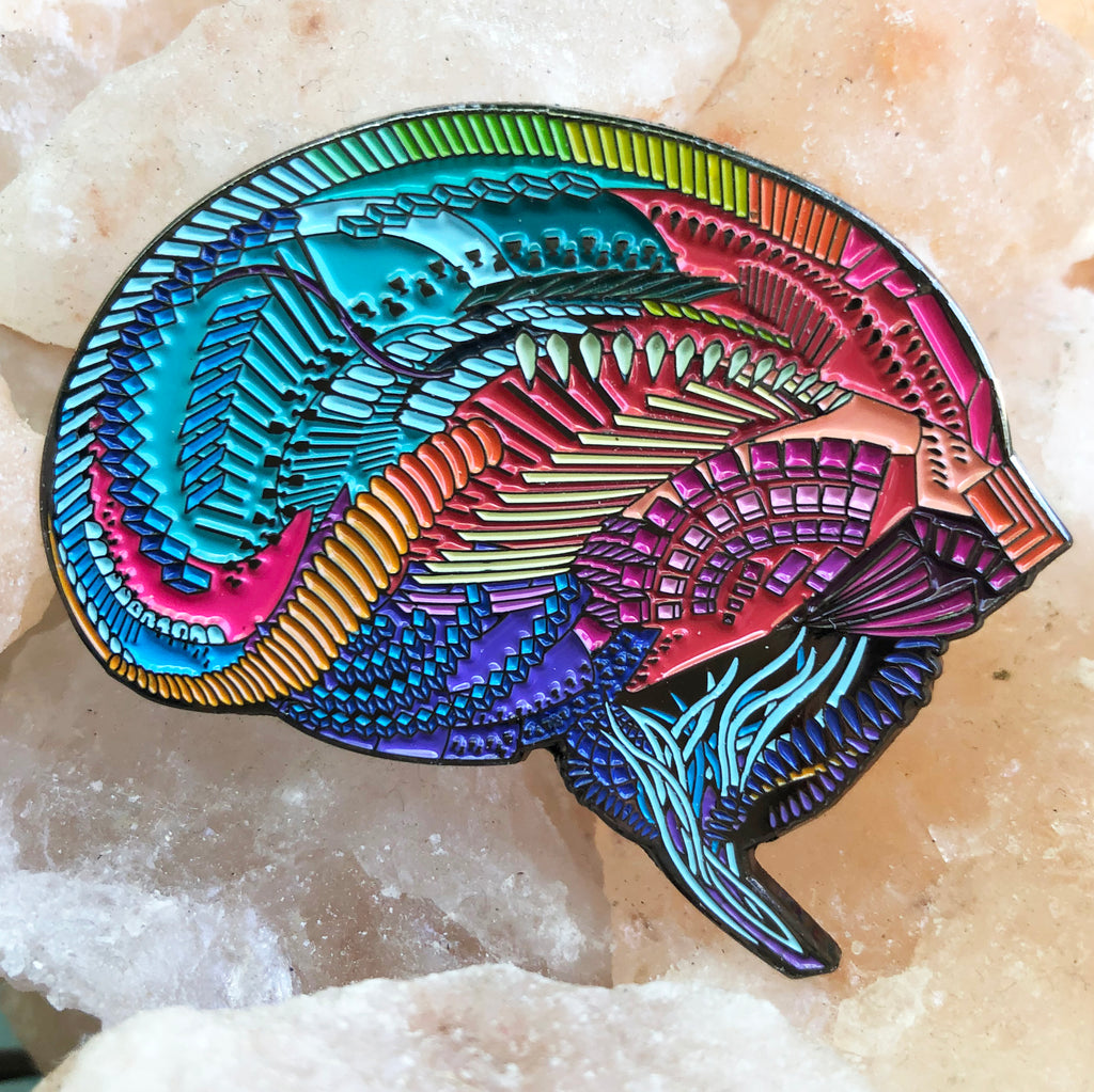 Rainbow Brain Pin- SOLD OUT