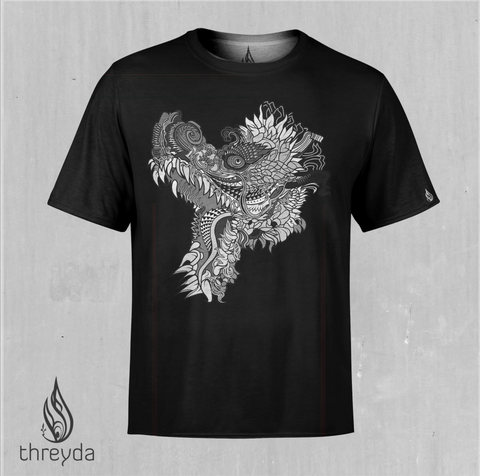 Humming Dragon Screen Printed Tee x Threyda