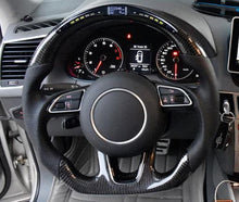 Load image into Gallery viewer, 2016+ Audi A4/S4/RS4 Carbon Fiber Steering Wheel