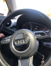 Load image into Gallery viewer, Audi Carbon Fiber Steering Wheel Trim