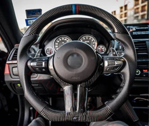 2010-2017 BMW F10 5 Series M-Sport Carbon Fiber Steering Wheel