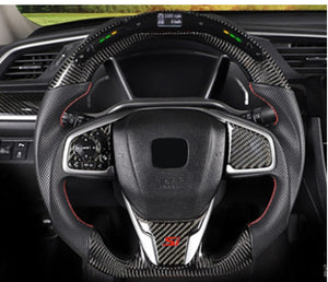 2016+ Honda Civic Carbon Fiber Steering Wheel