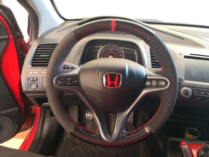 2009-2011 Honda Civic Carbon Fiber Steering Wheel Trim