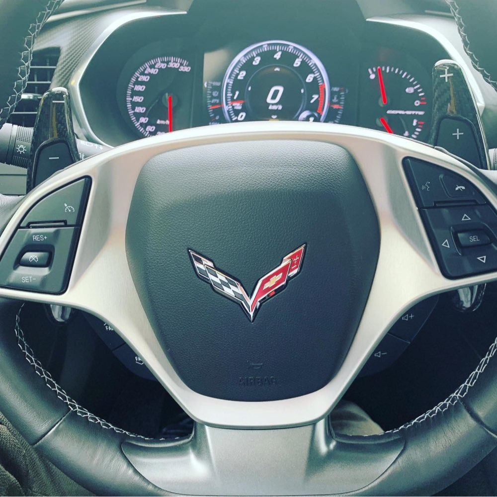 Chevrolet C7 Corvette Carbon Fiber Paddle Shift Extensions