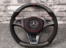 Load image into Gallery viewer, 2014-2019 Mercedes-Benz GLA Carbon Fiber Steering Wheel