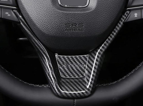 2018+ Honda Accord Carbon Fiber Steering Wheel Trim