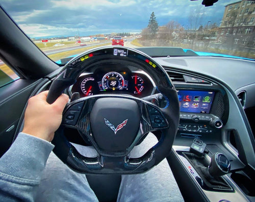Chevrolet C7 Corvette Carbon Fiber Steering Wheel