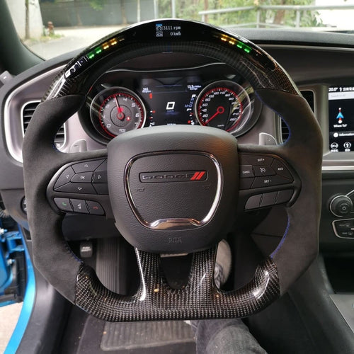Dodge Charger Carbon Fiber Steering Wheel