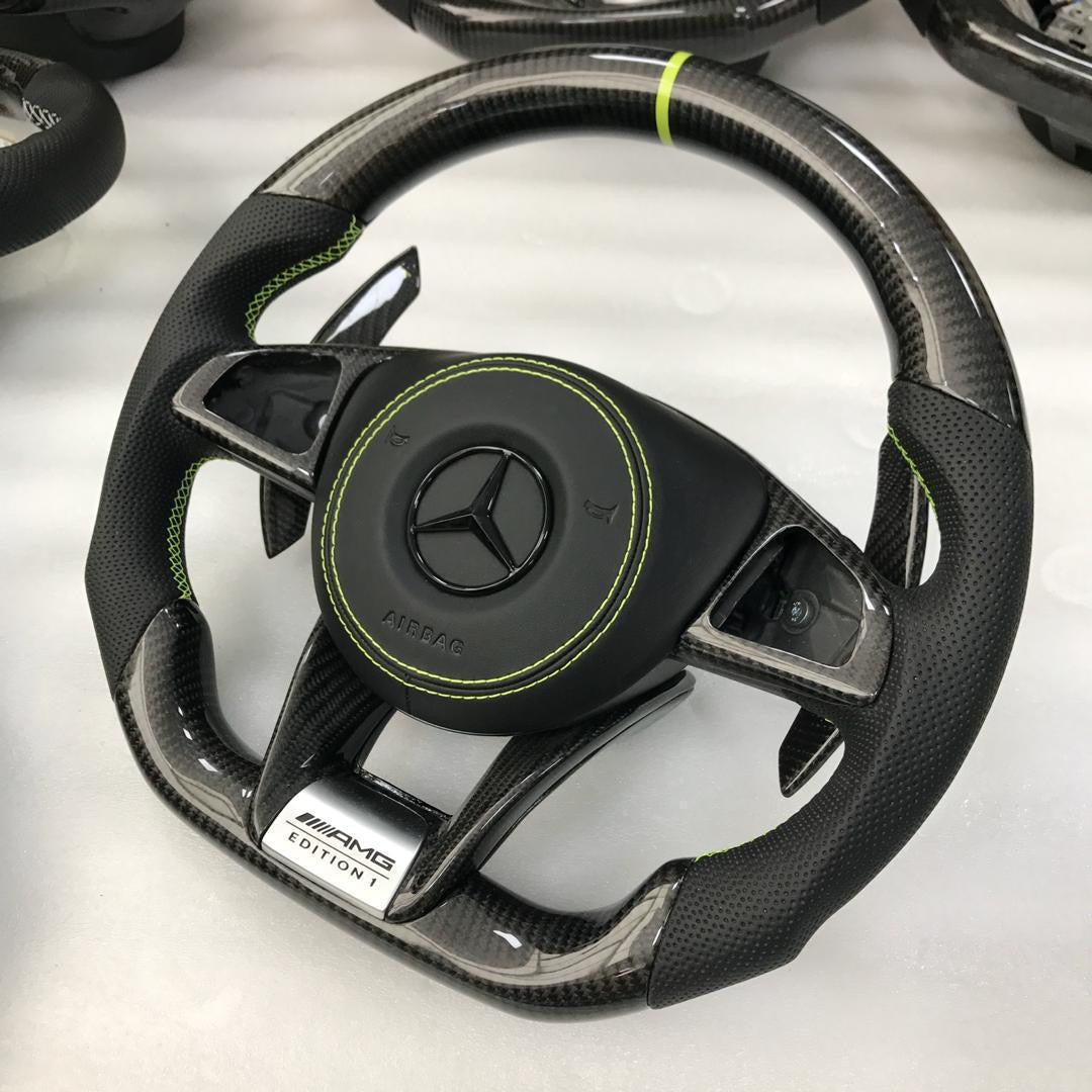 2014 2019 Mercedes Benz Gla Carbon Fiber Steering Wheel Carbonsteer