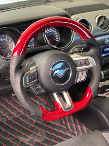 2015-2017 Ford Mustang Carbon Fiber Steering Wheel