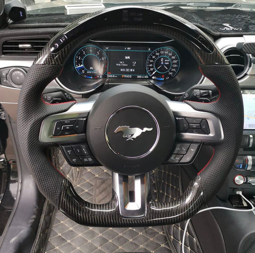 2018+ Ford Mustang Carbon Fiber Steering Wheel