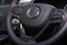 Load image into Gallery viewer, Jeep Grand Cherokee Carbon Fiber Steering Wheel Trim