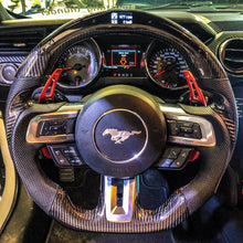 Load image into Gallery viewer, 2018+ Ford Mustang Carbon Fiber Steering Wheel