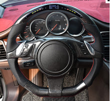 Load image into Gallery viewer, 2010-2016 Porsche Panamera Carbon Fiber Steering Wheel