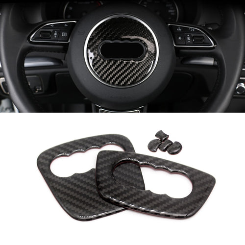 Audi Carbon Fiber Steering Wheel Trim