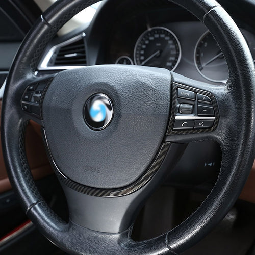 BMW F10 Carbon Fiber Steering Wheel Trim