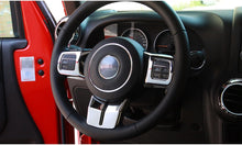 Load image into Gallery viewer, 2011-2017 Jeep Wrangler Carbon Fiber Steering Wheel Trim