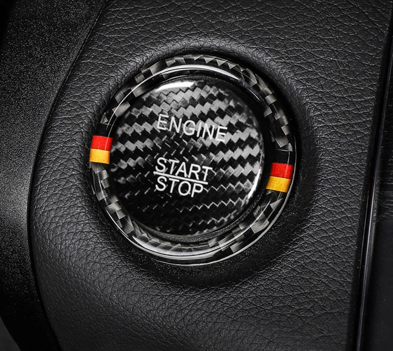 Mercedes-Benz Carbon Fiber Engine Start Stop Button