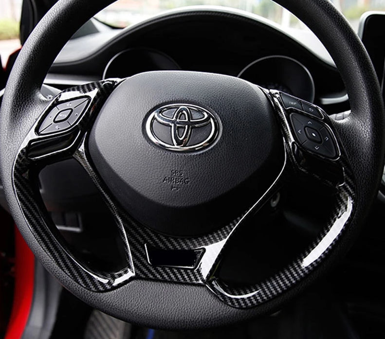 Toyota CH-R Carbon Fiber Steering Wheel Trim