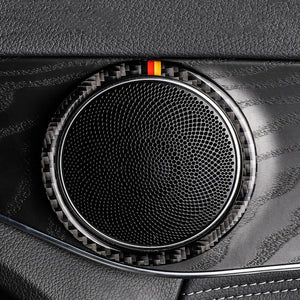 Mercedes-Benz C-Class / GLC Carbon Fiber Speaker Rings